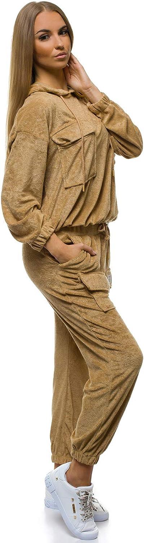 Sportanzug Trainingsanzug Hausanzug Hoodie Hose Sweatshirt OZONEE 9003 Damen