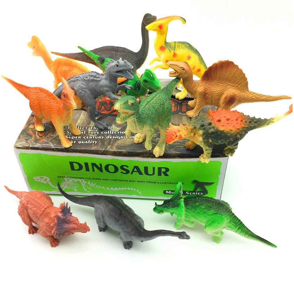 12個 模造恐竜玩具 / 大きな動物恐竜モデル、ティラノサウルス、フュサリウム、ドラゴン、誕生日のギフト。 B07HNS7Z8W