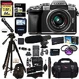 "Panasonic DMC-G7KS Digital Single Lens Mirrorless Camera 14-42 mm Lens Kit, 4K + Accessory Bundle + Transcend 64 GB + Polaroid 72"" Tripod + Microphone + Polaroid Flash + Filter Set + Battery + More"