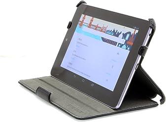 StilGut UltraSlim Case, esclusiva custodia per Google Asus Nexus 7 (8 & 16GB) con funzione stand-up e funzione on/off, nero