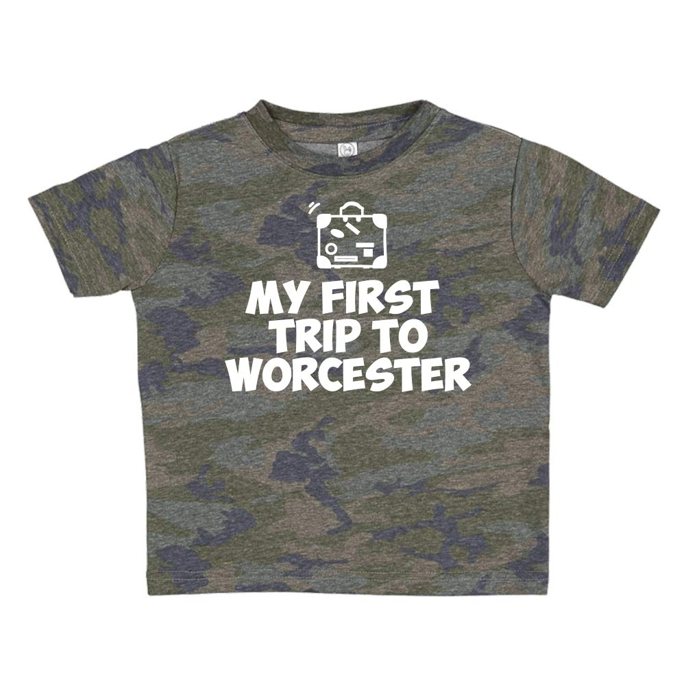 Toddler//Kids Short Sleeve T-Shirt Mashed Clothing My First Trip to Worcester