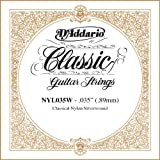 D\'Addario NYL035W Silver-plated Copper Classical Single String, .035
