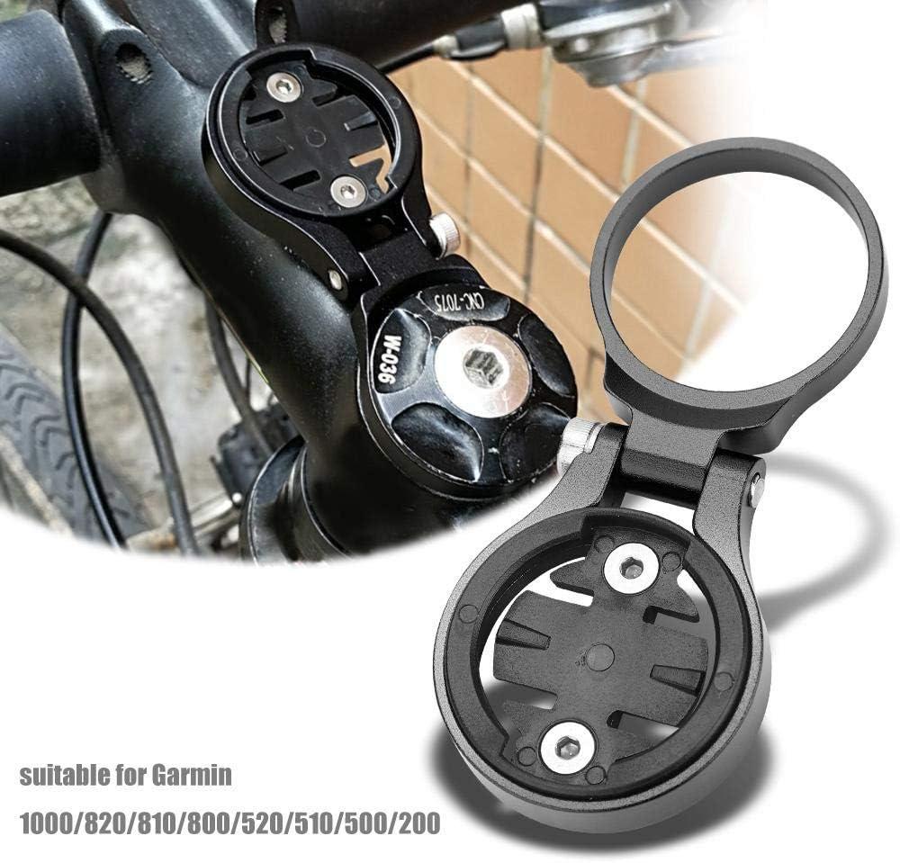 Soporte de extensi/ón de od/ómetro para bicicleta Aleaci/ón de aluminio Soporte de extensi/ón de od/ómetro para ciclismo Accesorio de soporte ajustable para computadora de bicicleta Negro para Garmin