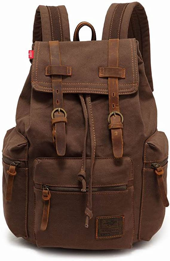 Jiujiu Station Baseball-Heart School Backpack Vintage Casual Canvas Backpack Travel Hiking Rucksack for Men Women Students Daypack