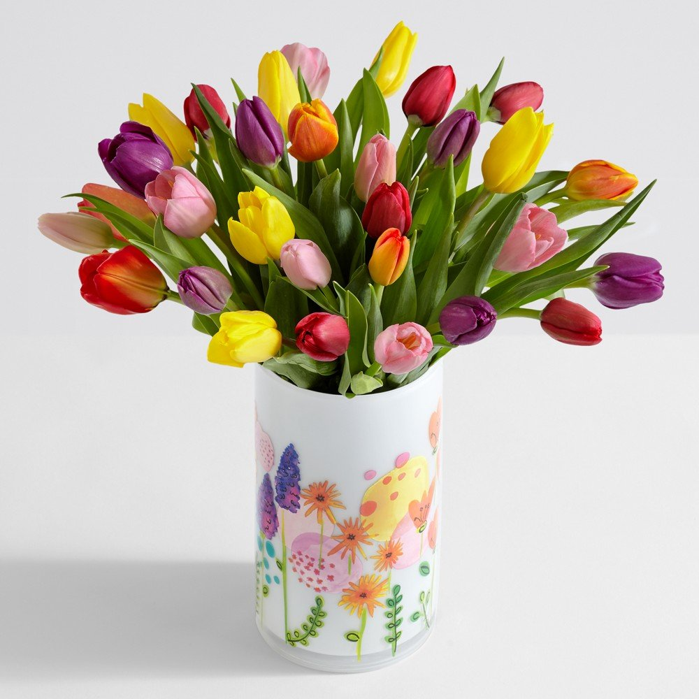 Amazon proflowers 30 count multi colored 30 multi colored proflowers 30 count multi colored 30 multi colored tulips wfree clear izmirmasajfo Images