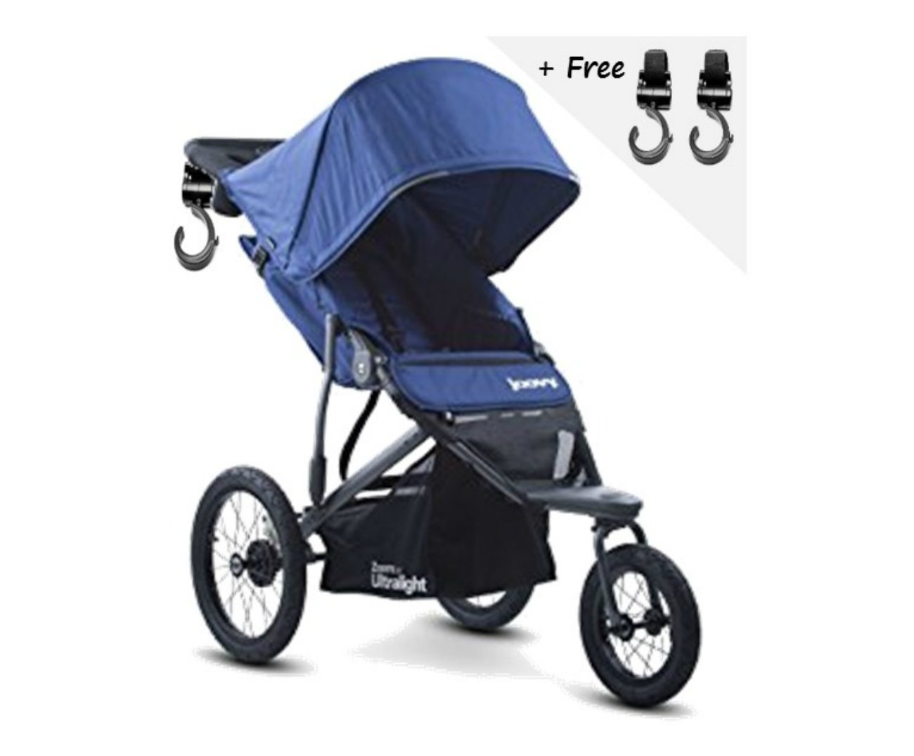 Premium JOGGER ULTRALIGHT Baby Strollers, Car Seat Compatible, Umbrella, Travel Systems Ready! For Infants, Toddlers And Kids, Blueberry Color + 2 Free Strap-on Handy Hooks!