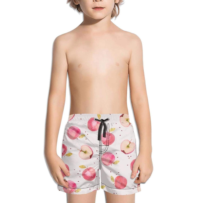 Etstk Apple red Kids Durable Swim Trunks for Men