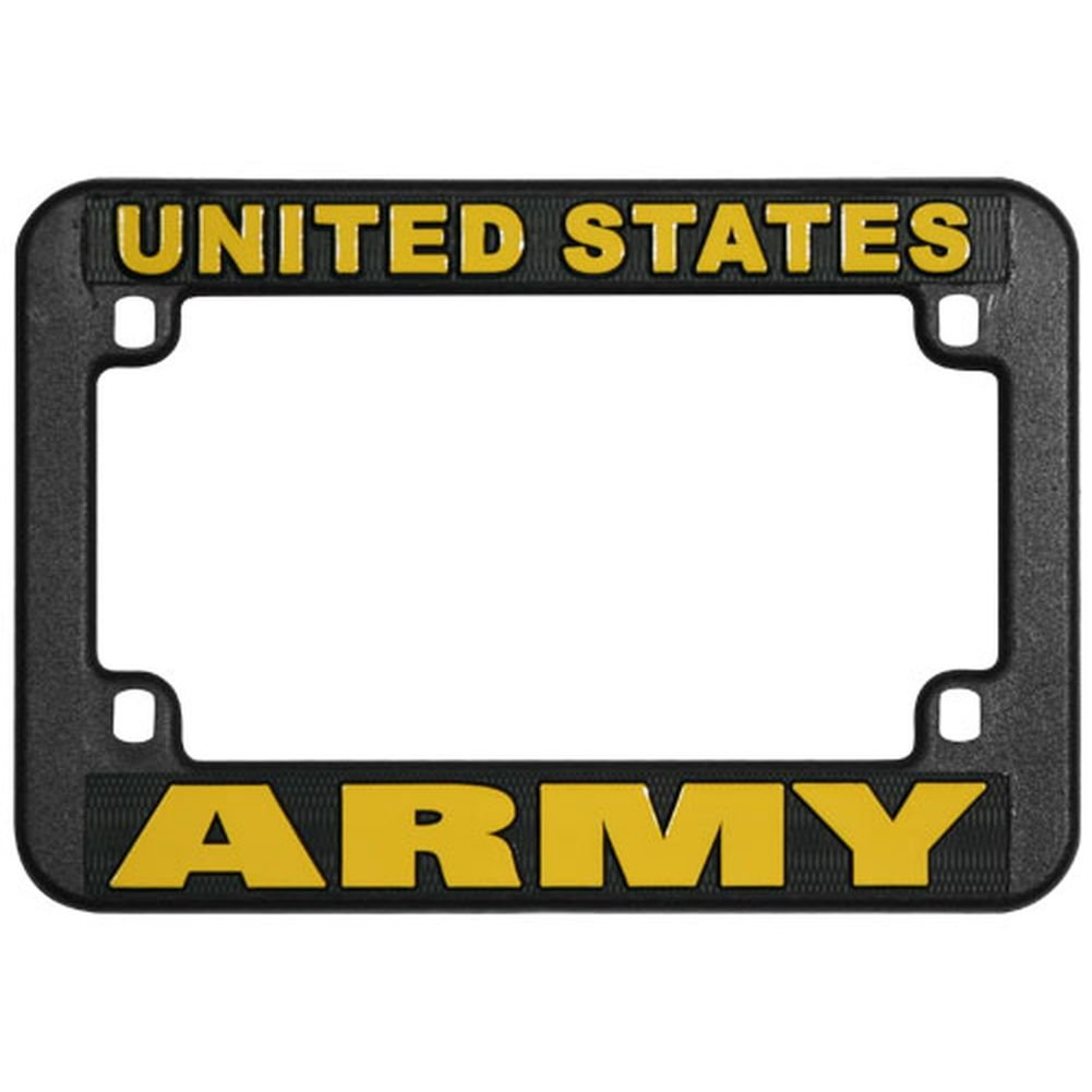Honor Country US Army Motorcycle License Plate Frame, Plastic Mitchell Proffitt
