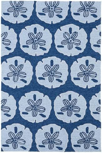 Kaleen Rugs Matira Collection MAT06-17 Blue Handmade 7 6 X9 Rug