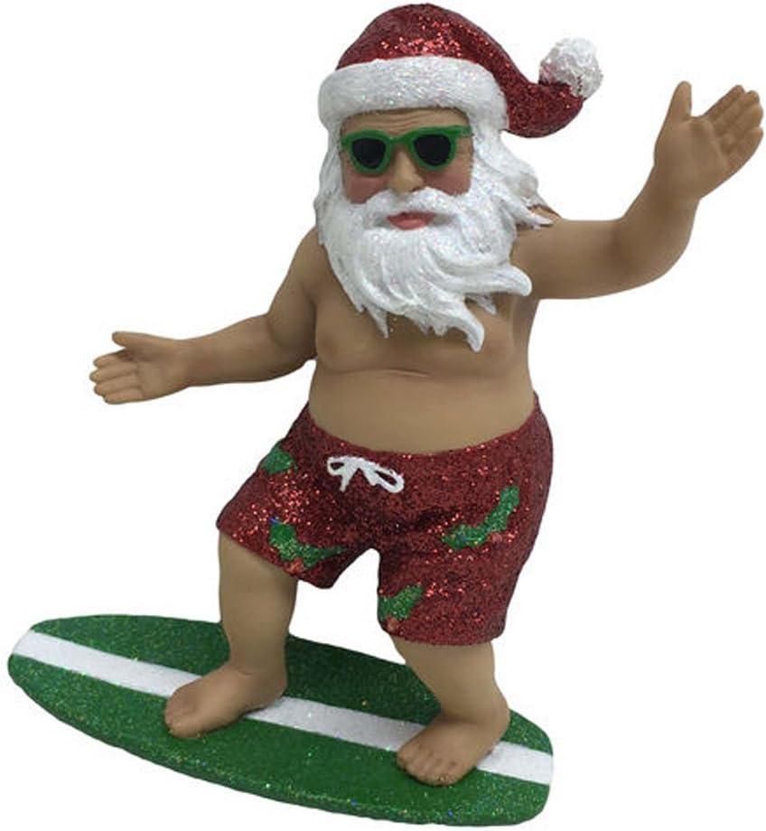 December Diamonds Ornament Surfing Santa