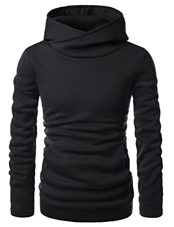 Showblanc Mens Stylish Pullover Funnel Collar Fleece Lined Hooded ...