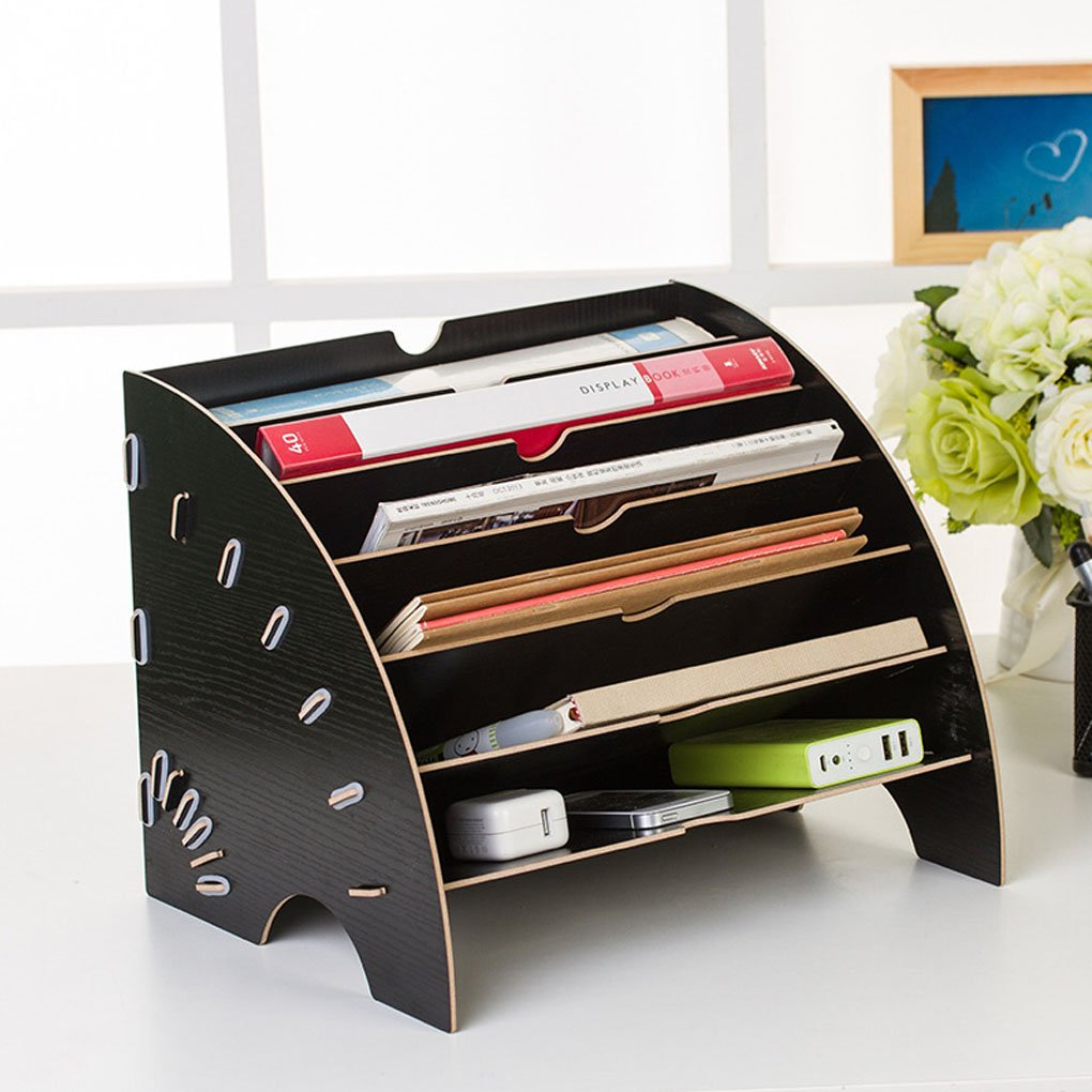 ... Trays Papers Documents Sorter Shelf Letter Tray Dividers Display Rack Storage Bin Basket Home & Office Desktop Folder Organizer Rack : Office Products
