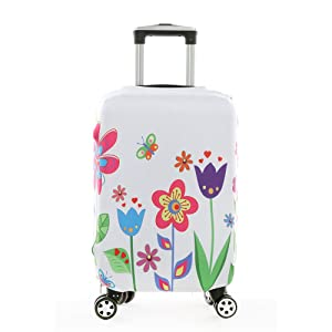 MaxS Travel Luggage Cover Suitcase Protective Bag Polyester/Spandex Fabric Cover Fits 22-24 Inch