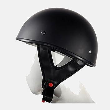 Motocicleta Moto Dot Aprobado soporte de medio casco de equitación Ligero negro nuevo Regular)