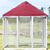 PANEY Large Bird Cage Waterproof Polyester Cover Blanket Breathable Non-Toxic Red 69.7' L x 49.6' W