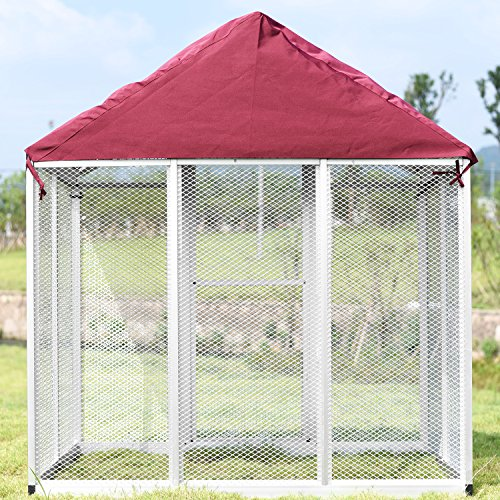 PANEY Large Bird Cage Waterproof Polyester Cover Blanket Breathable Non-toxic Red 69.7