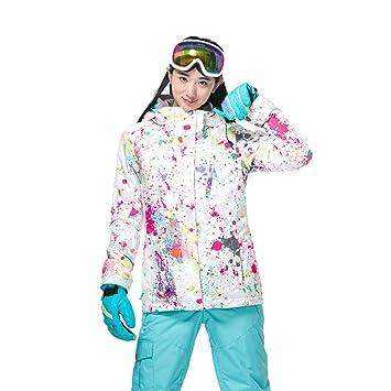 KD Chaqueta de esquí Mujer, Elegante Invierno Traje de esquí ...