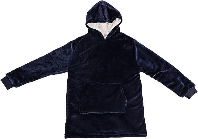 Viviland Hoodie Sherpa Blanket Sweatshirt Soft Warm Plus Large Front Pocket Tv Blankets for Kids,Gift Box