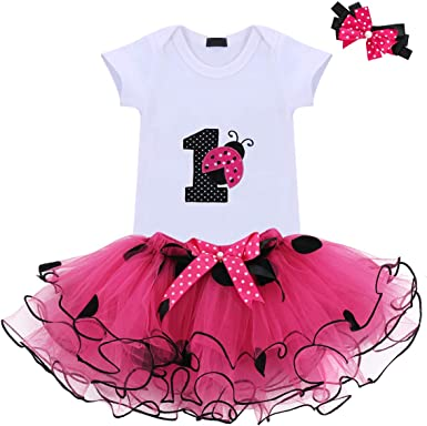 Skirt for Girls Baby My 1st Birthday Costume Cake Smash Dress Outfits Romper