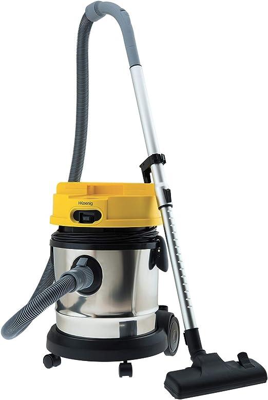H.Koenig TC120 - Aspirador 3 en 1, Aspiracion seca y humeda, 1400 W, Capacida 20 l, tanque de acero inoxidable.: Amazon.es: Hogar