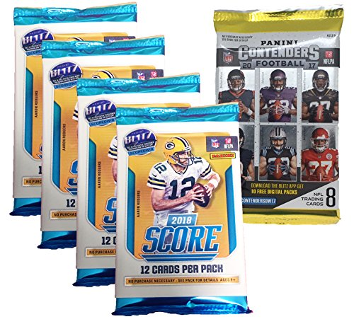 Panini 2018-2019 Score NFL Football Trading Cards Retail Factory Sealed 4 Packs + Bonus - Sports Cards Panini