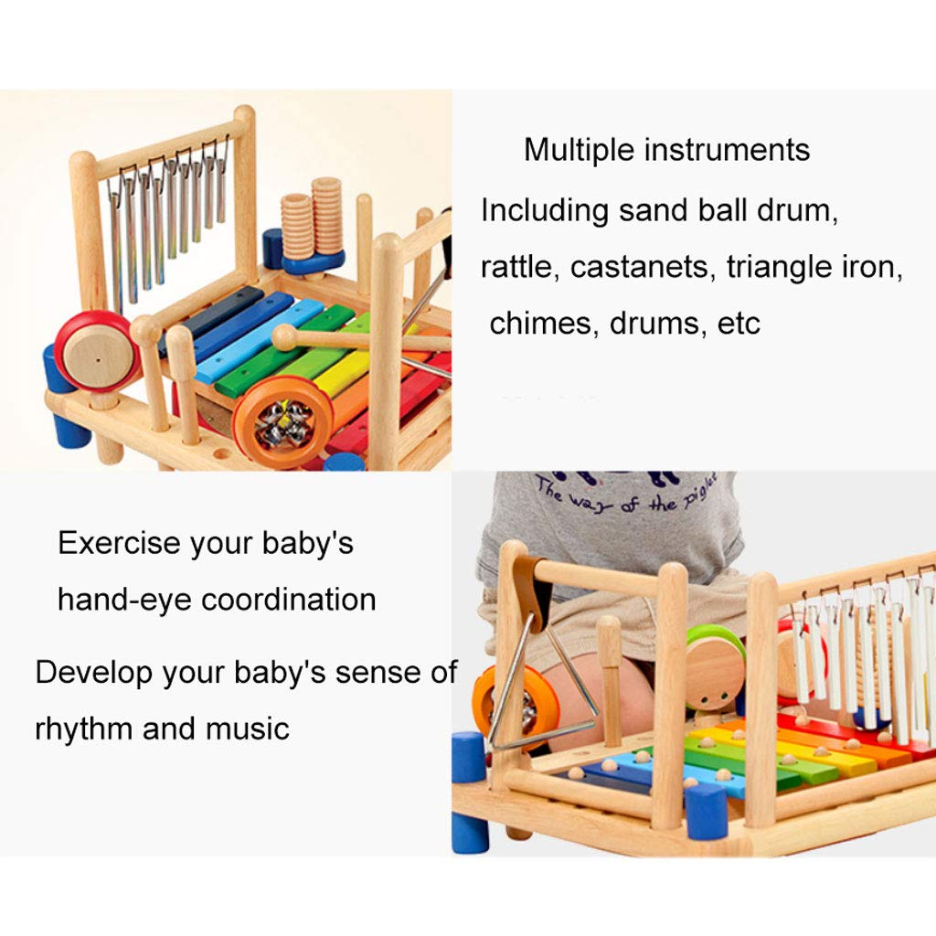 ZYN Child Percussion Instrument Combination Enlightenment Early Education Wooden Educational Toy by ZYN (Image #3)