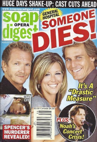 Laura Wright, Ingo Rademacher, Sebastian Roche, General Hospital, Behind-The-Scenes Players on Daytime TV - August 28, 2007 Soap Opera Digest