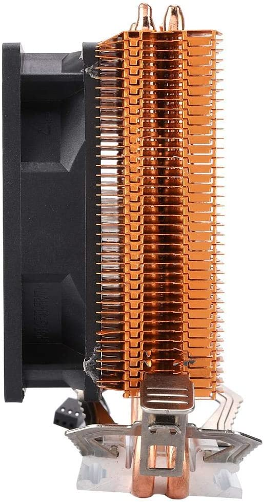 Aluminum Base Cooler U-Shaped Heat Pipe 12V DC 3pin High Efficiency Computer Cooler 9cm Colorful CPU Radiator Single Fan Heat Sink