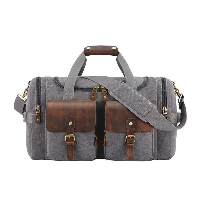Zhhlinyuan Fin De Semana Por La Noche Lona Bolsa De Viaje Cargo Holdall - Equipaje De Mano Bolsas De Vuelo Weekend Lona Duffel Bag Para Caminar: Amazon.es: ...