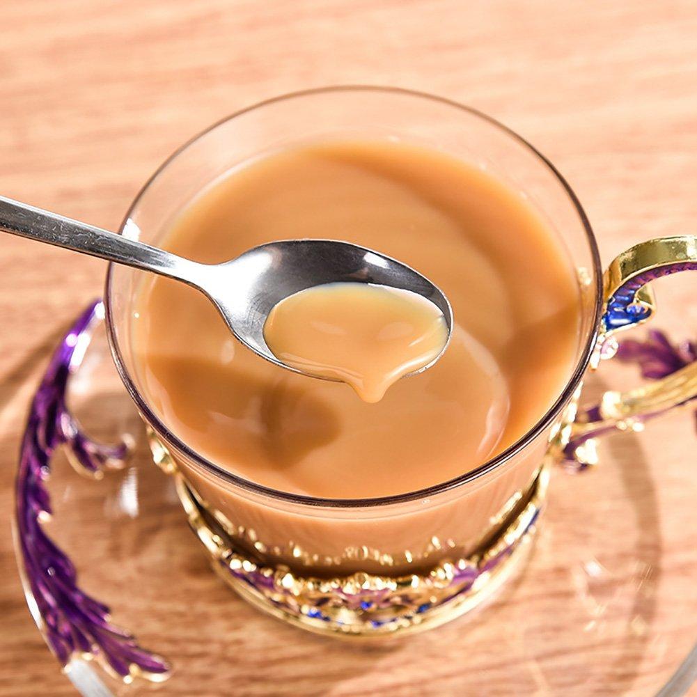 Vidrio Esmaltes de color Copa de café Copa de grado Copa plato cuchara Set Regalo claro (Color : Purple 1 piece) : Amazon.es: Hogar