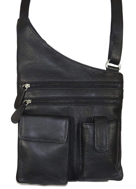 ポール&テイラーGenuineレザーCrossbody Bag with Pockets 5931  ブラック B00G5JM76A