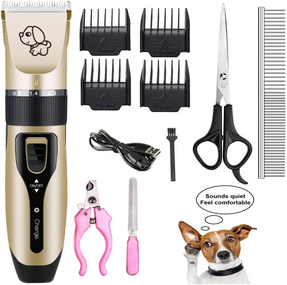 Mikayoo Pet Charging Electric Clippers,Pet Electric Shaver Cat and Dog Electric Hair Clipper,Dog Professional Beauty Trim Set Can Be Charged