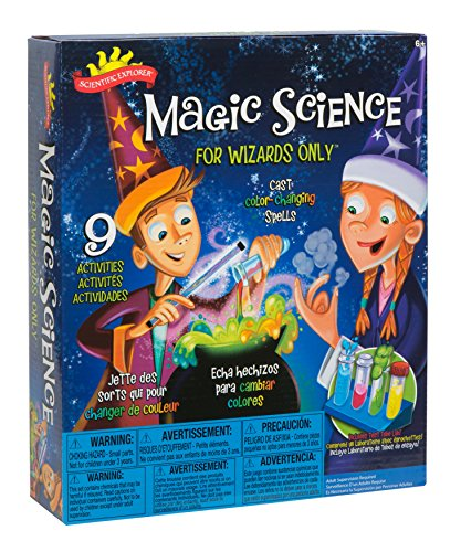 Scientific Explorer POOF-Slinky Magic Science for Wizards Only Kit, (9) Activities, 0SA247