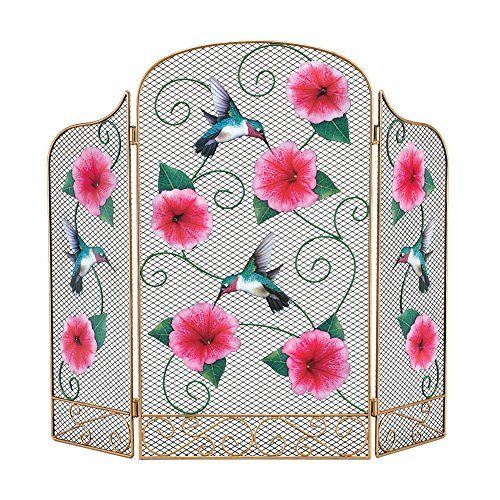 Hummingbird Decorative Fireplace Screen Cover
