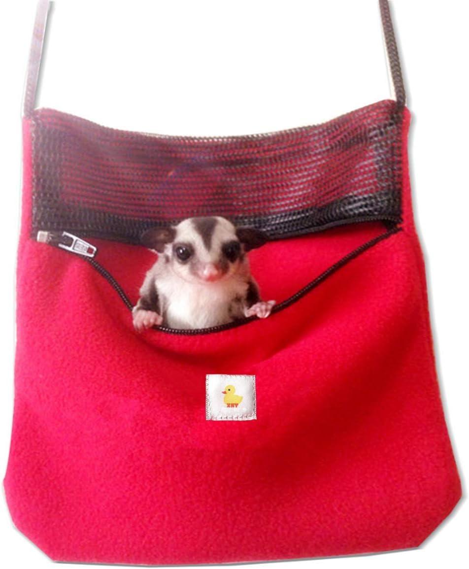 ASOCEA Small Pet Travel Carrier Packet Shoulder Bag for Hamster Rat Mice Sugar Gliders