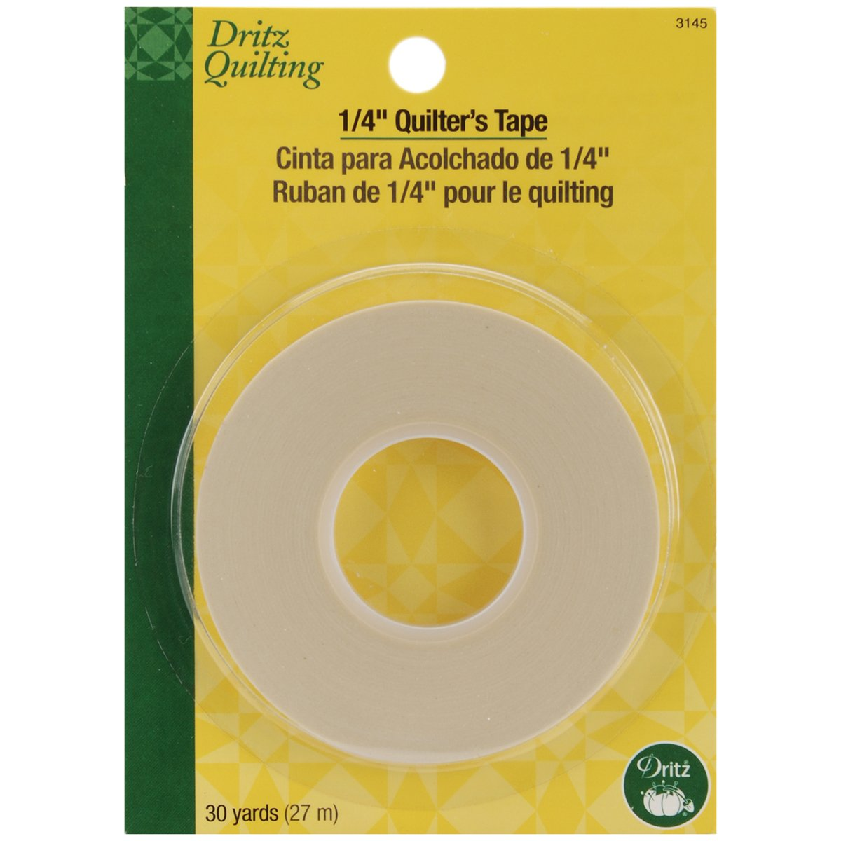 Dritz 3145 Quilter's Tape, 1/4 inch -by- 30 yards Dritz 3145 Quilter' s Tape Prym Consumer USA