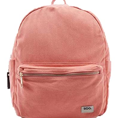 4bc6a02cd Urban Outfitters BDG Canvas Pastel Coral Backpack: Amazon.co.uk ...