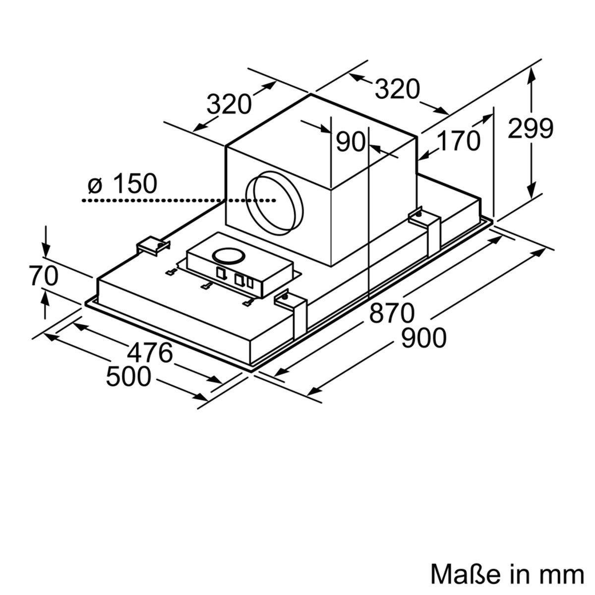 Neff IDC9968N (I99C68N1) / Deckenlüfter / 90cm / Edelstahl ...