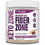 Keto Zone® Fiber Powder | Berry Flavored | Psyllium Husk Powder | Inulin Powder | 270 Grams & 30 Day Supply | Recommended in