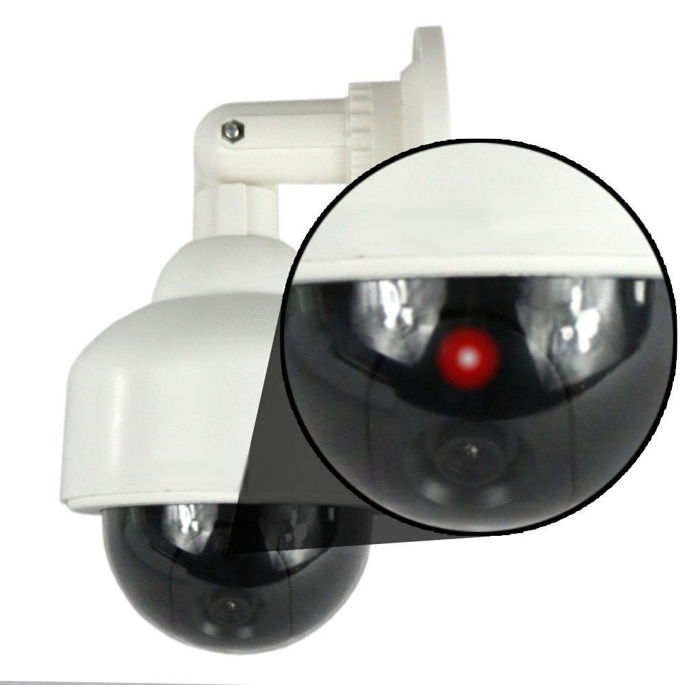 ドームフェイクダミーカメラホームセキュリティwith点滅LEDライト B01BHJ6MEA