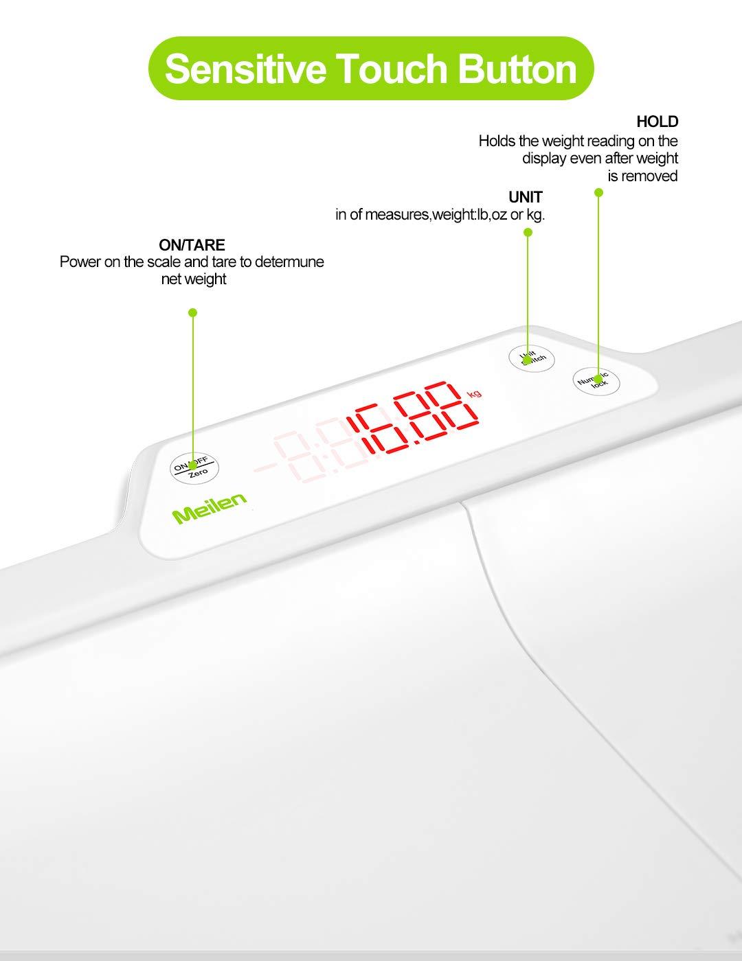 P/èse B/éb/é Electronique,balance pese personne,pour b/éb/é Affichage r/étro-/éclair/é Split Design 100kg Capacit/é avec Plateau Amovible