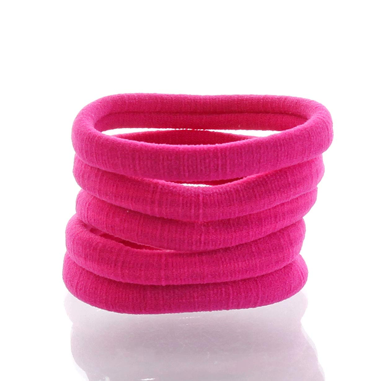 My Lello Large Thick Premium Elastic Ponytail Hair Bands - Seamless- Fuchsia 1000pcs by My Lello