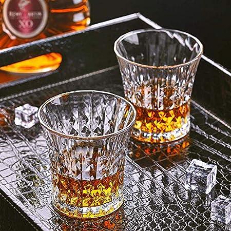 FGDSA Juego de decantador de Whisky, Juego de decantador de 5 Piezas Que Incluye 4 Copas de cóctel Preciosas, Excelentes Regalos para los Amantes del Vino, Vino de Whisky Bourbon y Otros licores