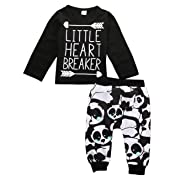 Newborn Infant Baby Boy Girl Clothes T-shirt Tops+Pants Leggings Outfits Set (0-6 Month)