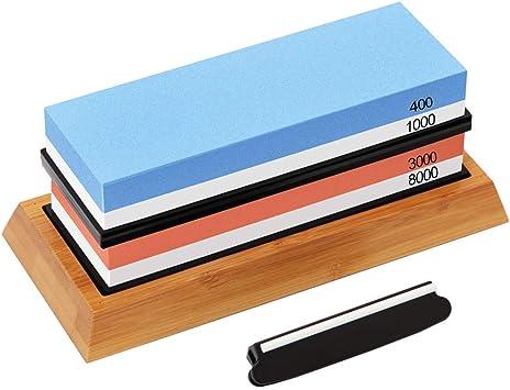 Schleifstein Abziehstein Messerschärfer Kit 400//1000//3000//8000 Fixierstein