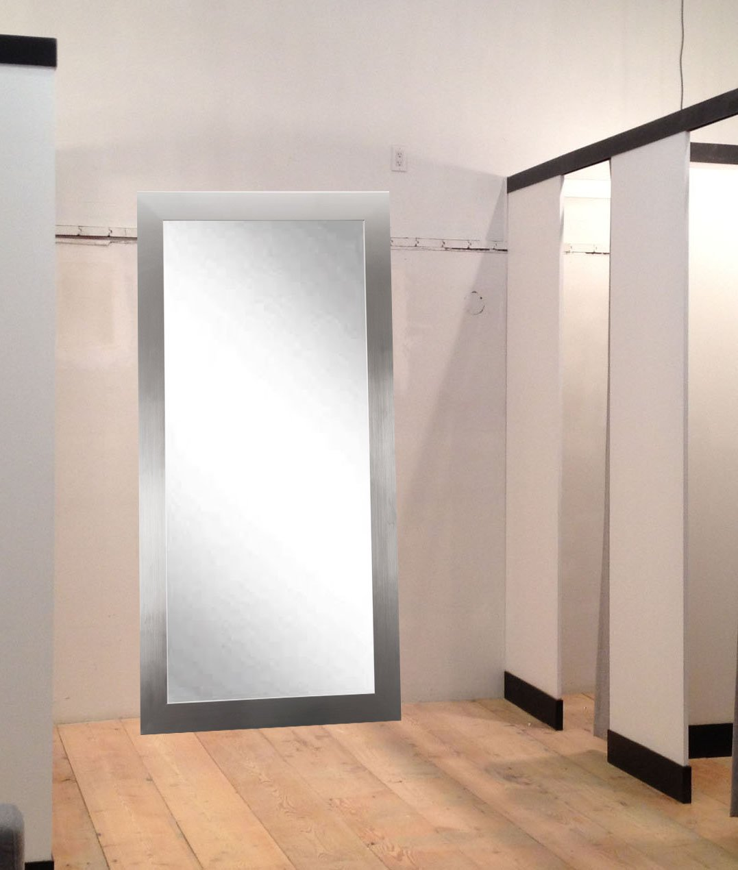 BrandtWorks Commercial Value Hotel Design Vanity Wall Mirror, 32'' x 66'', Silver