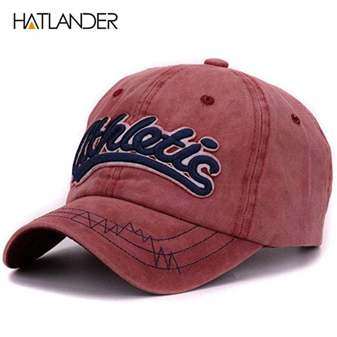 New Vintage Cotton Washed Baseball caps Men Casual Sports Hats Gorras Women 3D (Bordeaux,