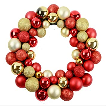 Christmas Ball Garland.Amazon Com Shuangklei 35cm Christmas Ball Ring Plastic