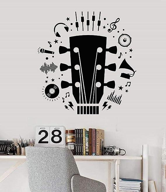 Apliques de pared de vinilo guitarrista guitarra escuela de ...