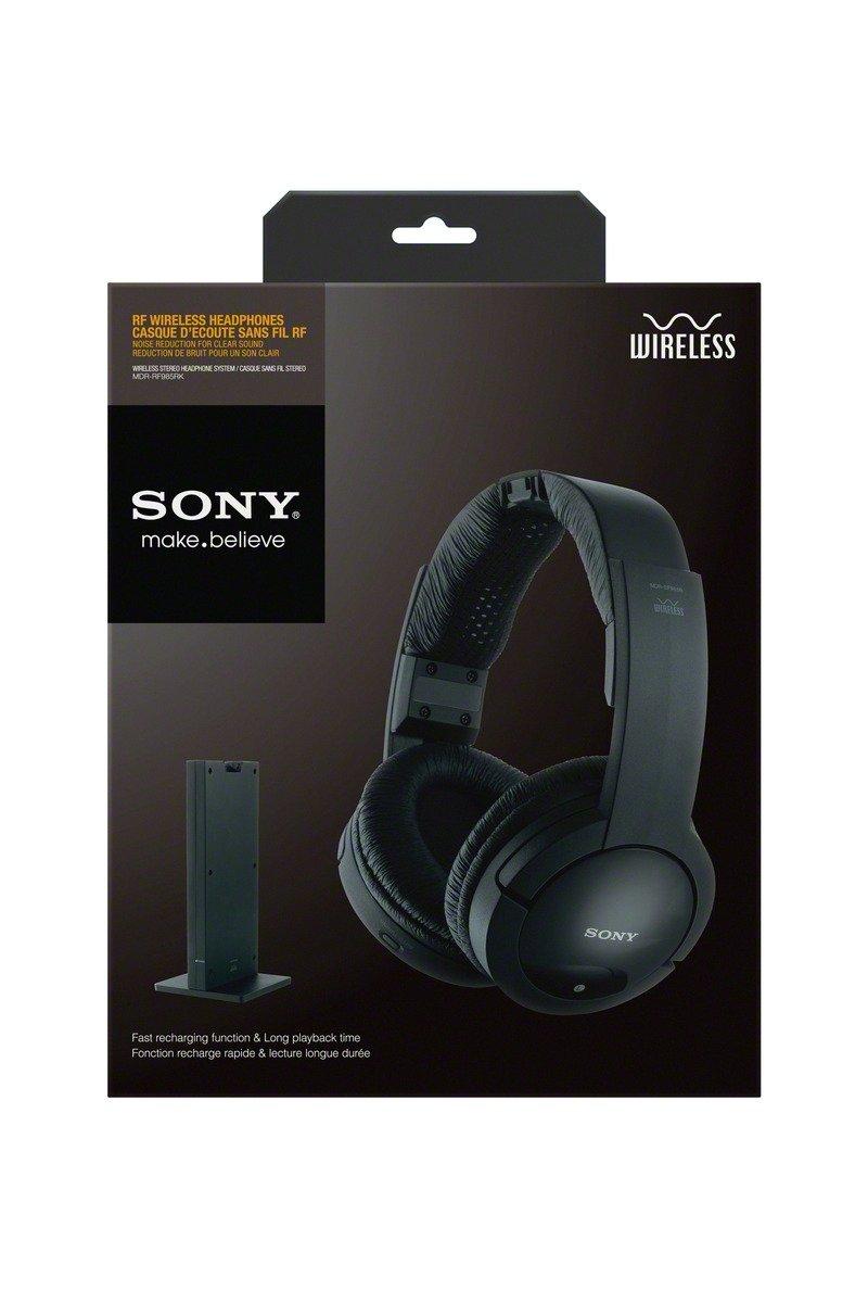 sony tv ears. amazon.com: sony mdrrf985rk wireless rf headphone, black: home audio \u0026 theater tv ears r